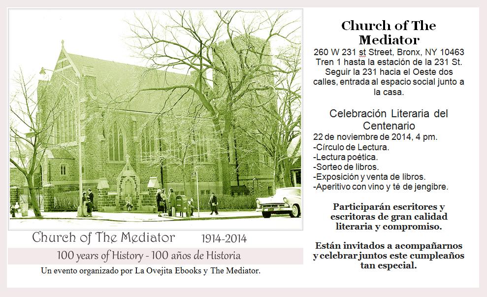 Celebración poética del centenario de la Iglesia del Mediador, el 22 de noviembre de 2014