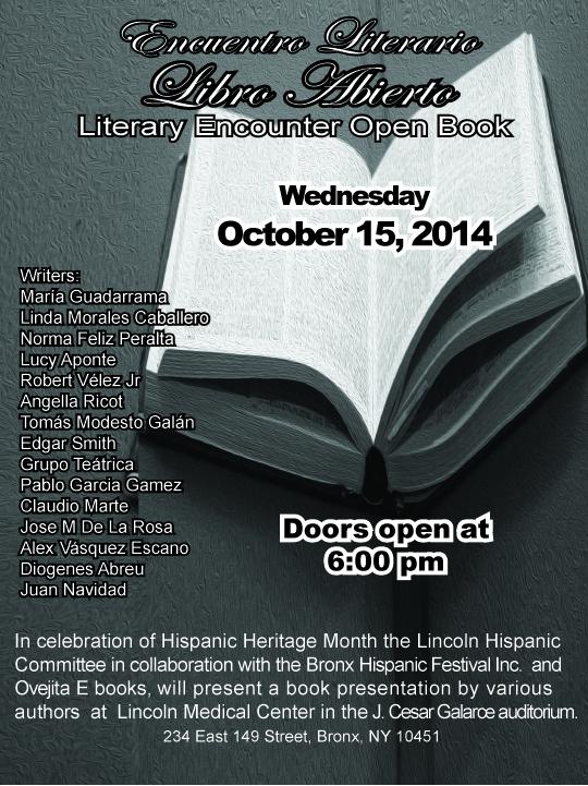 Evento Libro Abierto celebrado en el Lincoln Hospital el 15 de octubre de 2014